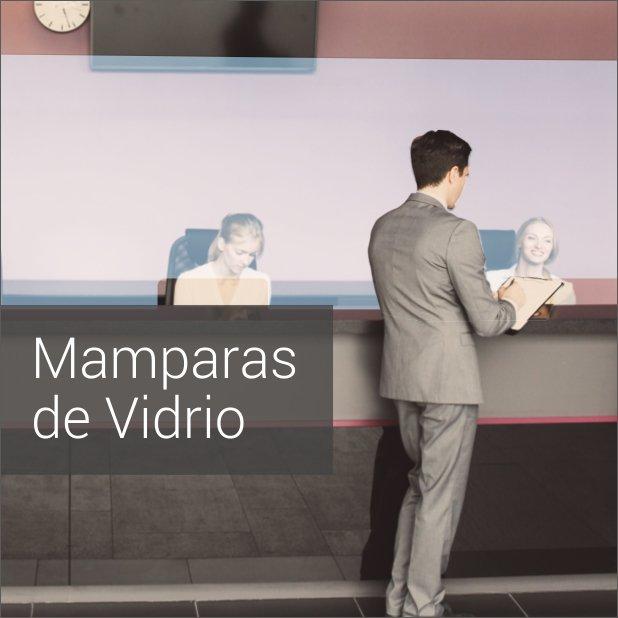 Portada de Dossier descargable de Mamparas protectoras anticontagio en vidrio