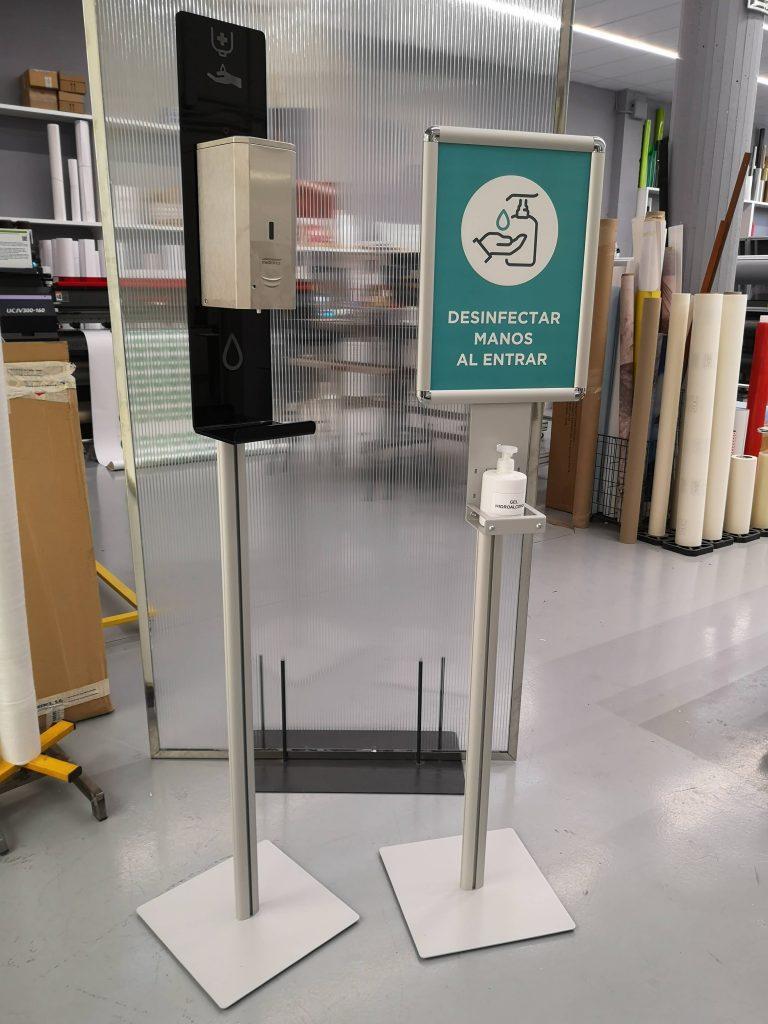 Cleaning Points diseñados y fabricados por Femonsa. Con opción de dosificador de gel hidroalcohólico automático o manual